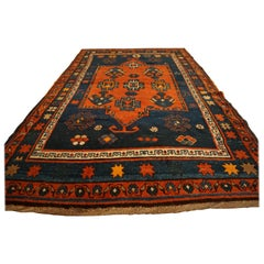 Antique Art Deco Caucasian Kazak Carpet, circa 1890