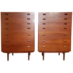 Borge Mogensen Pair of Danish Teak Tall Boys