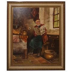 Painting Gemälde Parlor Prof. Katharina Schöttler, 1935