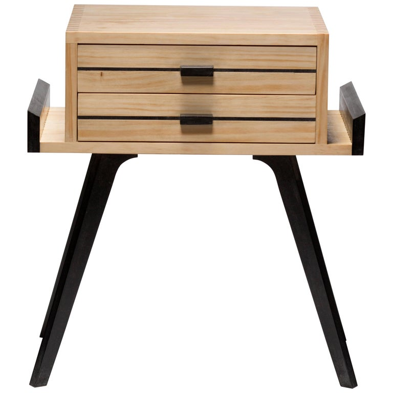 Le Petit, Two-Color Nightstand with drawers For Sale
