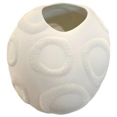 White Porcelain Textured Bowl, Italy, Contemporary