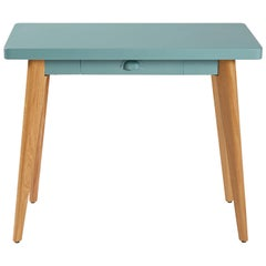 55 Console Table w/ Drawer & Wood Legs in Pop Colors by Jean Pauchard & Tolix