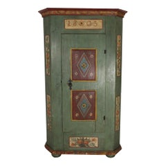 Painted Pine Armoire, circa 1803