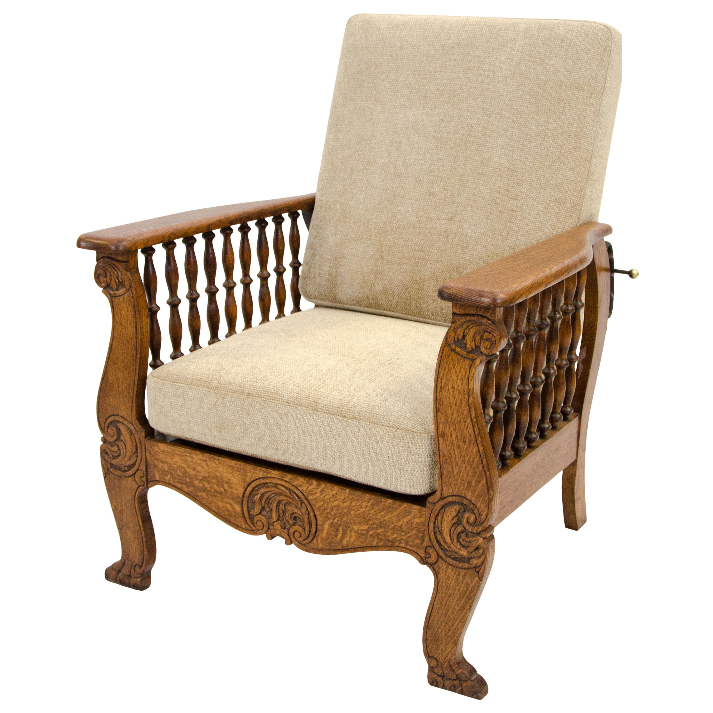 Fantastic Antique Oak Morris Reclining Chair Quarter Sawn Oak At 1Stdibs Gamerscity Chair Design For Home Gamerscityorg