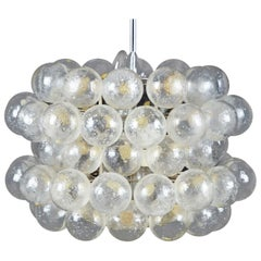 Beautiful Midcentury Glass Chandelier