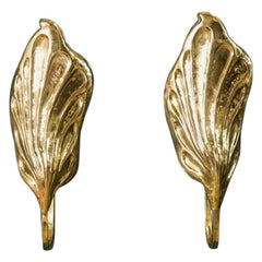 Pair of Italian Brass Leaf Sconces by Claudio Giorgi for Bottega Gadda