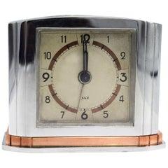 French Art Deco Alarm Clock by JAZ, circa 1935
