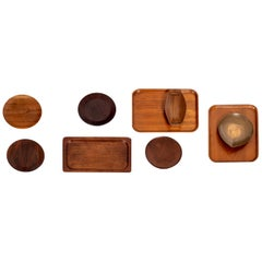 Collection of Wood Serving Pieces
