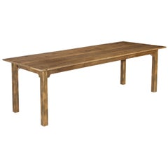 Farm Table, Reclaimed Wood from Tobacco Sorting, Factory or Dining