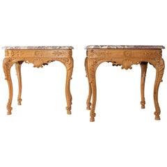 Pair of Tables, Regency Style Sofa Ends, 1940s
