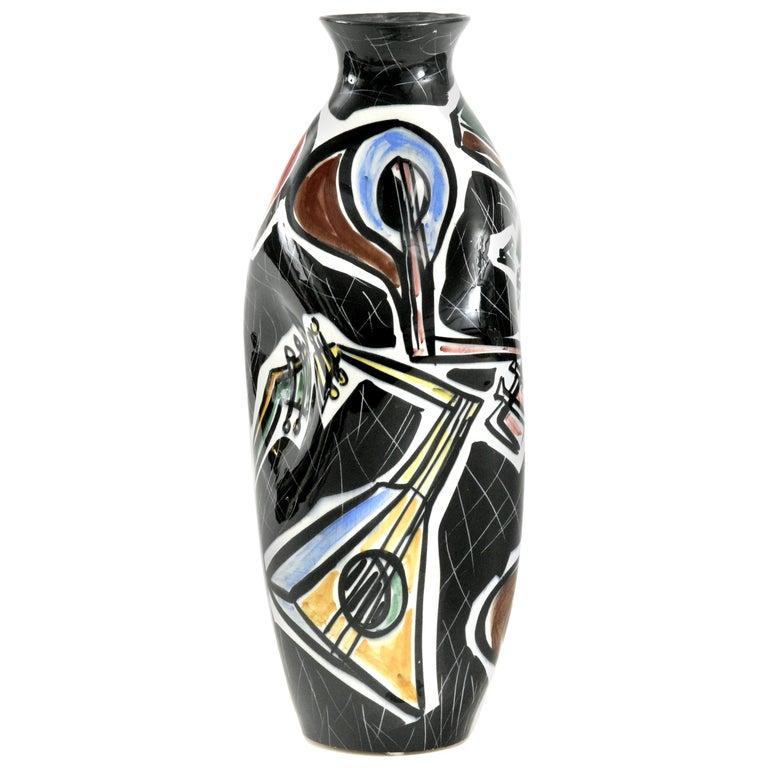 Picasso Vase Guitars Ceramico Titano San Marino, Italy, circa 1960 For Sale
