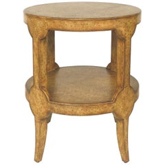Maitland-Smith Ostrich Leather Clad Occasional Table