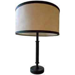 Elegant Leather Desk Lamp by Jacques Adnet, France, 1950