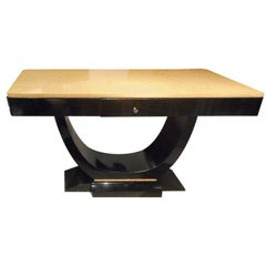 Art Deco Console or Center Table Attributed to J. Leleu, France, 1930