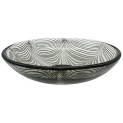 "Murano Glass Bowl in ""Fenicio"" Festooning Pattern by Cenedese, 1970s"