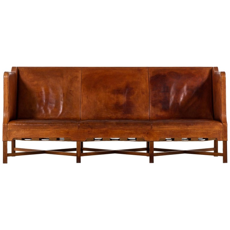 Kaare Klint Sofa Model No 4118 Produced by Rud. Rasmussen in Denmark For Sale