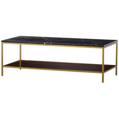 Carolina Long Coffee Table with Black Marquina Marble Top