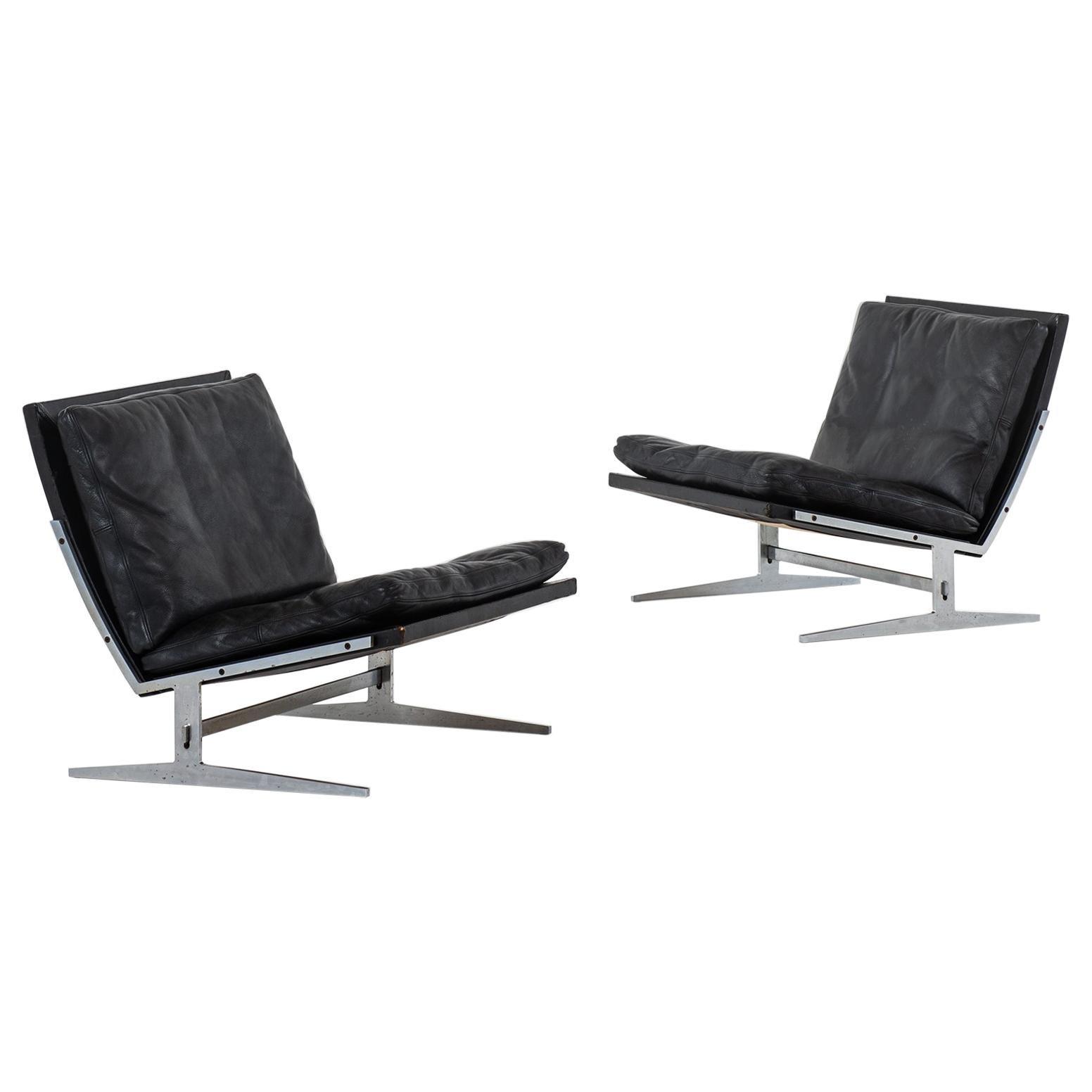 Jørgen Kastholm & Preben Fabricius Easy Chairs Model Bo-561 by Bo-Ex in Denmark
