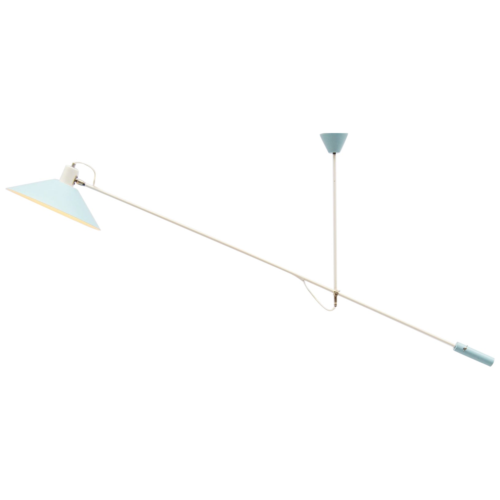 JJM Hoogervorst Anvia Counter Balance Ceiling Lamp, Holland, 1955