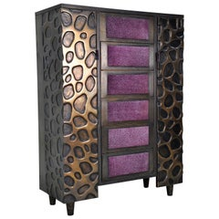 Bronze and Purpleheart Sideboard 'Contemporary, Limited Edition'