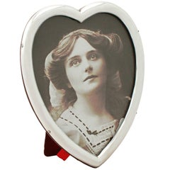 Antique Victorian Sterling Silver 'Heart' Photograph Frame