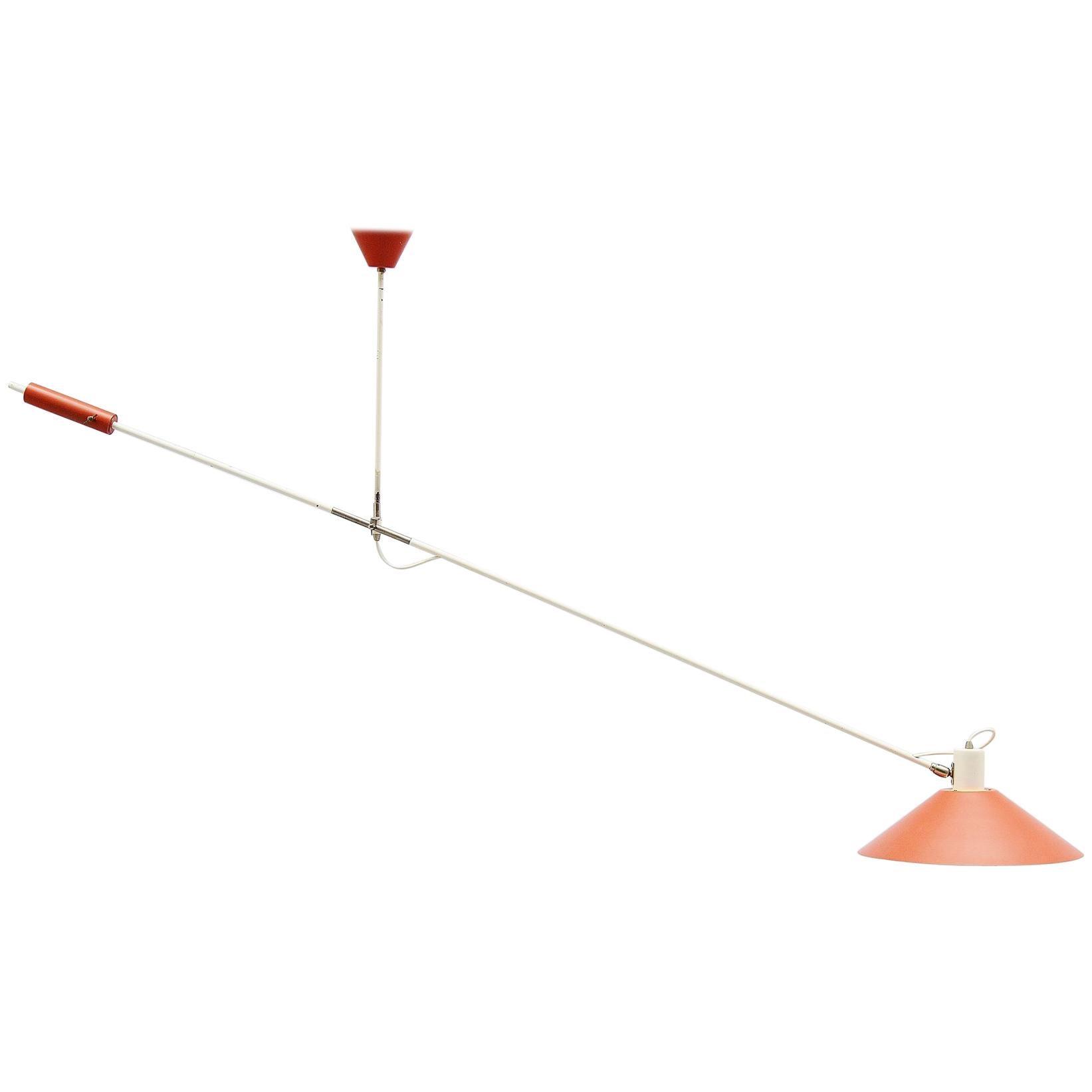 Anvia JJM Hoogervorst Counter Balance Ceiling Lamp Holland, 1955