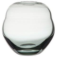 Sapphire Blue Art Deco Glass Vase