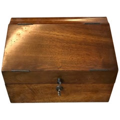 Walnut Letterbox, early 20th Century