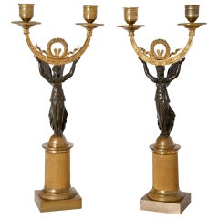 Empire Candlesticks, France, Early 19th Century
