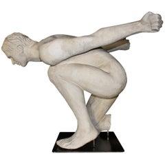 "1970s ""Artist Proof"" Neoclassical Plaster Sculpt by Italian Sculptor Nicola Voci"