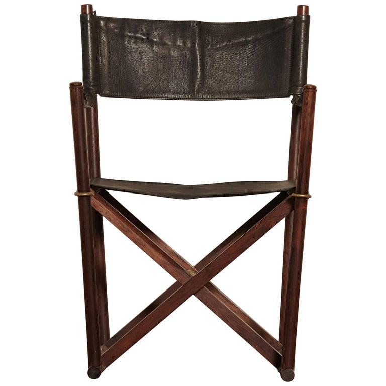 Mogens Koch Rosewood MK-16 Directors / Safari Chair for Interna, Denmark, 1960s