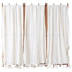 English Victorian Three-Panel Dressing Privacy Screen