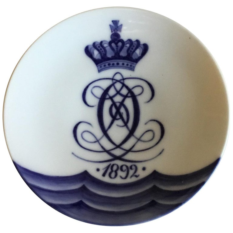 Royal Copenhagen Commemorative Plate from 1892 RC-CM2 For Sale