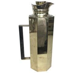 Mid-Century Modern Octagonal Brass Italian Thermos Carafe, circa 1960