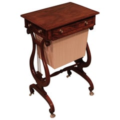 19th Century Regency Mahogany Work Table