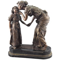 """Farewell"", Sculpture in Patinated Bronze"