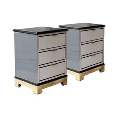 Contemporary Grey Black Gold White Metal Crystal Wood Spanish Side Tables, 2016