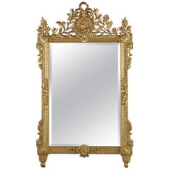 A Fine Louis XVI Style Carved Giltwood Mirror, Circa 1890