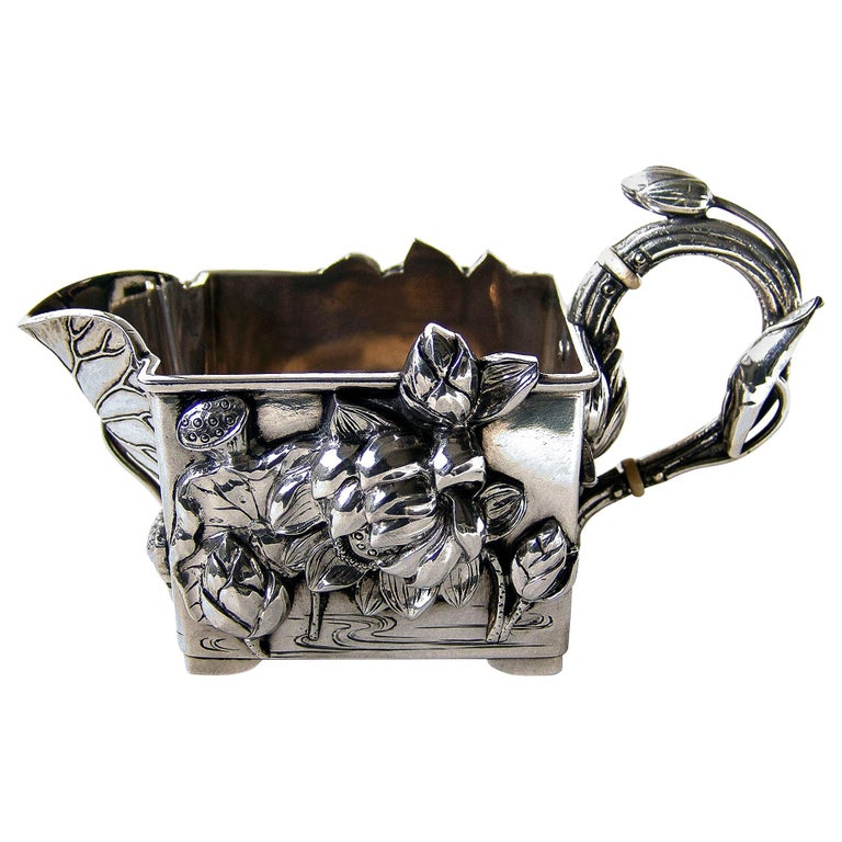 19th Century Superb Quality Japanese Silver Cream Jug For Sale