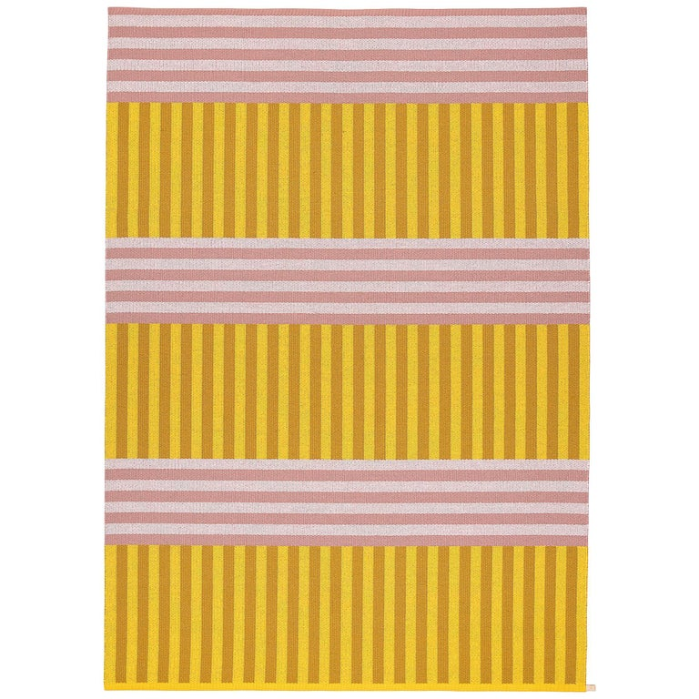 Striped, Limited-Edition, Pink and Yellow Woven Rug by Sight Unseen for Kasthall For Sale