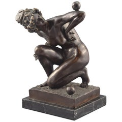 """Juggler Lady"", Bronze Sculpture"