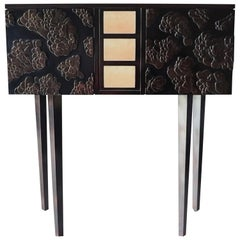 Bronze Cabinet Floral Pattern 'Contemporary, Limited Edition'