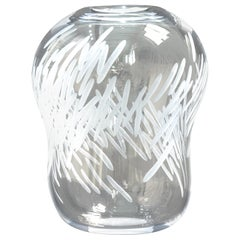 Contemporary Blown Glass Vase