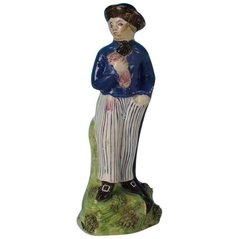 Stafforshire Pearlware Sailor Figure For Sale