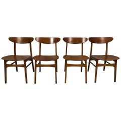 Set of Four Farstrup Møbler Chairs Danish Design Midcentury