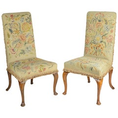 Pair of George II Style Side Chairs, circa 1900
