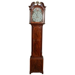 Outstanding 8 Day Flame Mahogany Moon Phase Longcase Clock by Nean Davidson