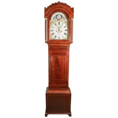 Fine Small Mahogany Moon Phase Clock by Fear of Bristol, circa 1830