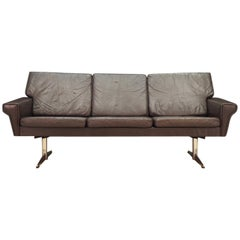 Danish Design Sofa 1960-1970 Vintage Leather