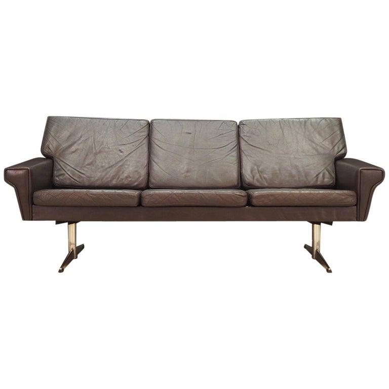 Danish Design Sofa 1960-1970 Vintage Leather For Sale at 1stdibs